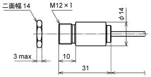 红外温度传感器RD-715-HA传感器零件的外部尺寸