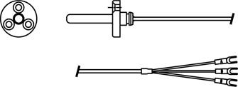 NR型测温电阻_形状参考图